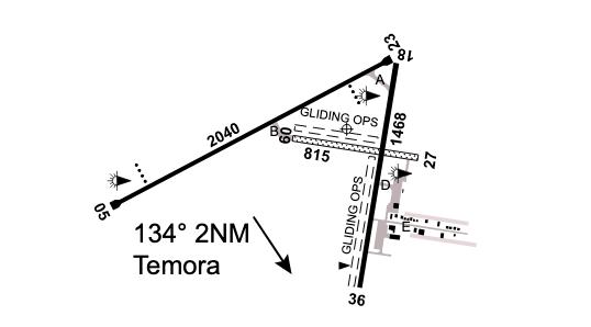 Temora Airport layout, Country Airstrips Australia
