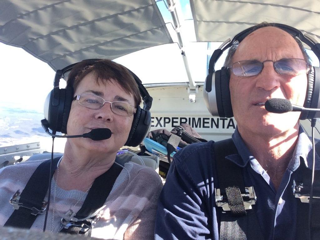 Flying in the RV over central Australia