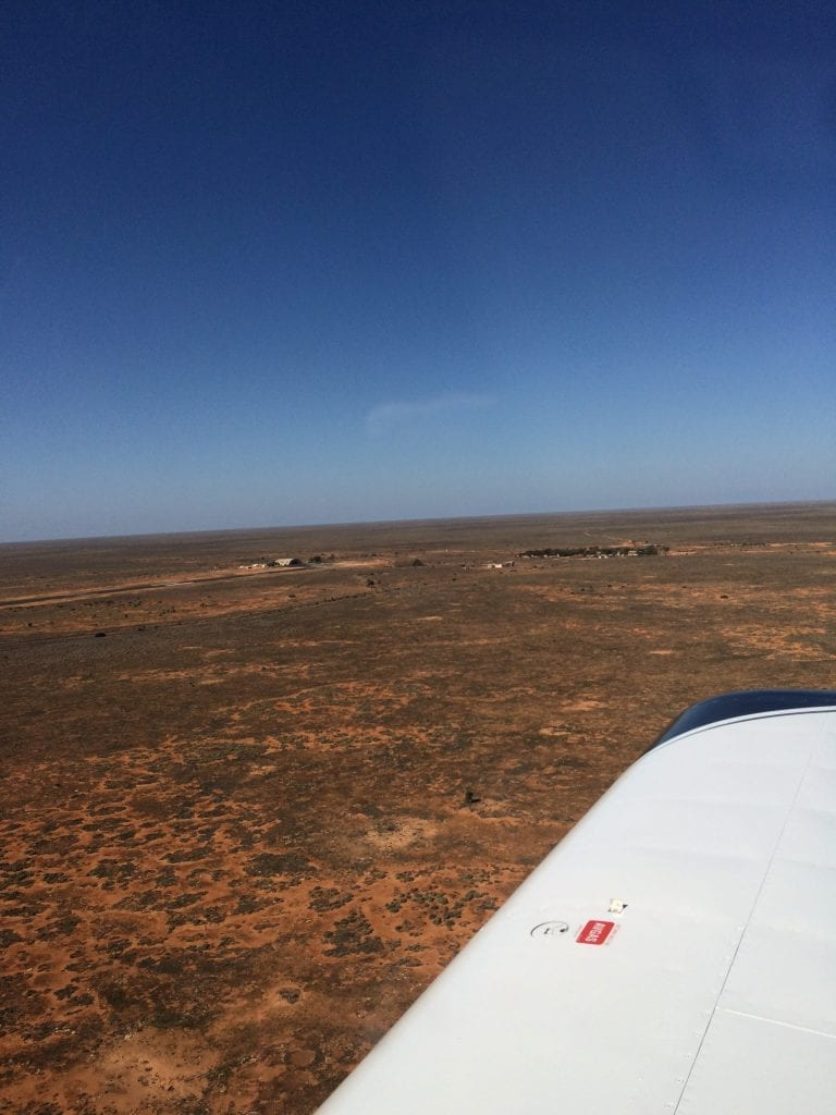 Approaching Forrest Airstrip WA