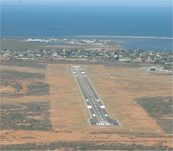 Aerial photo of Carnarvon Airport WA - Country Airstrips Australia