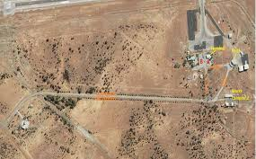 Meekatharra Aerial view of runways - Country Airstrips Australia