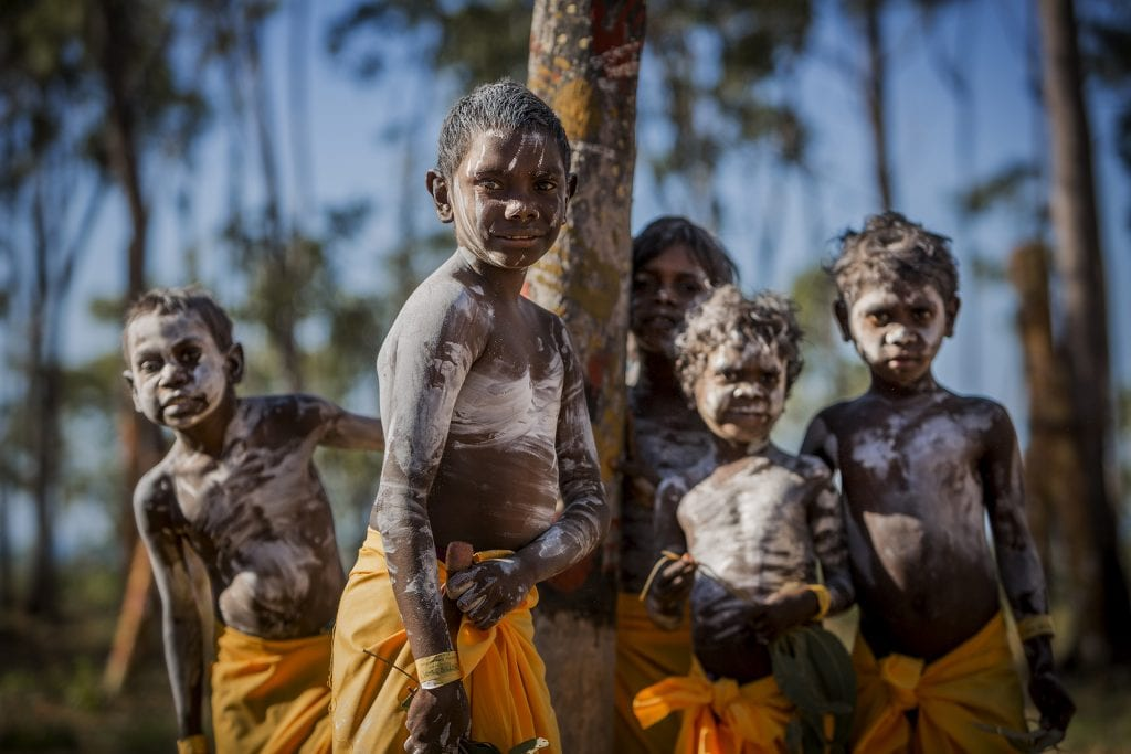 Yolngu boys at the Garma Festival NT