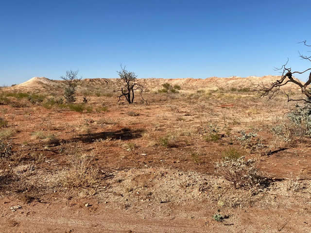 Bombers were kept in desert bunkers still visible today at Corunna Downs.