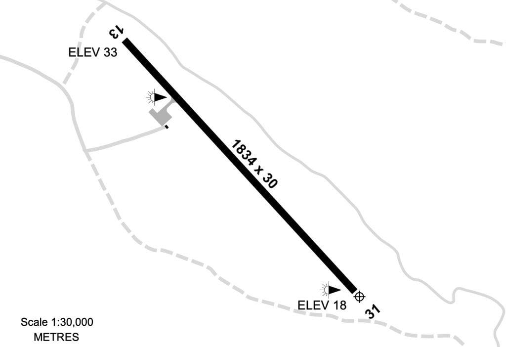 Northern Peninsula Airport Runway layout